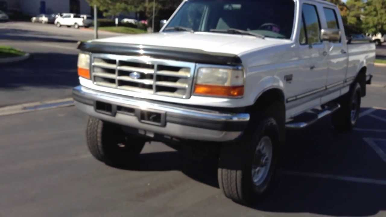 Com 1997 ford f250 crew cab xlt 4x4 199k 7 3 powerstroke diesel for sale youtube