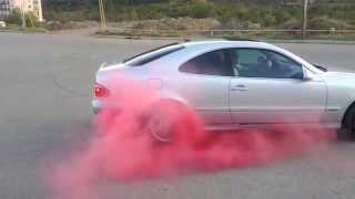 Colored Smoke Tyres JAN017 Mercedes Benz CLK200 Kompressor