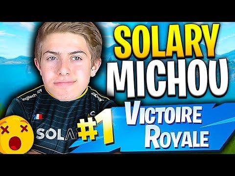 SOLARY MICHOU GRÂCE A CE TOP 1 SUR FORTNITE BATTLE ROYALE !!!