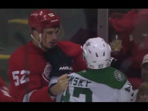 Ales Hemsky Hit on Jonathan Ericsson