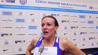 Simona Vrzalová po závodě na 1500 m - Czech Indoor Gala