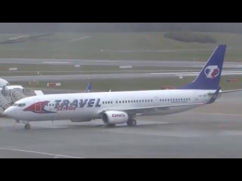 OK-TSM Travel Service Boeing 737-800 parking at Hamburg airport