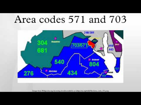 Area Codes 571 And 703