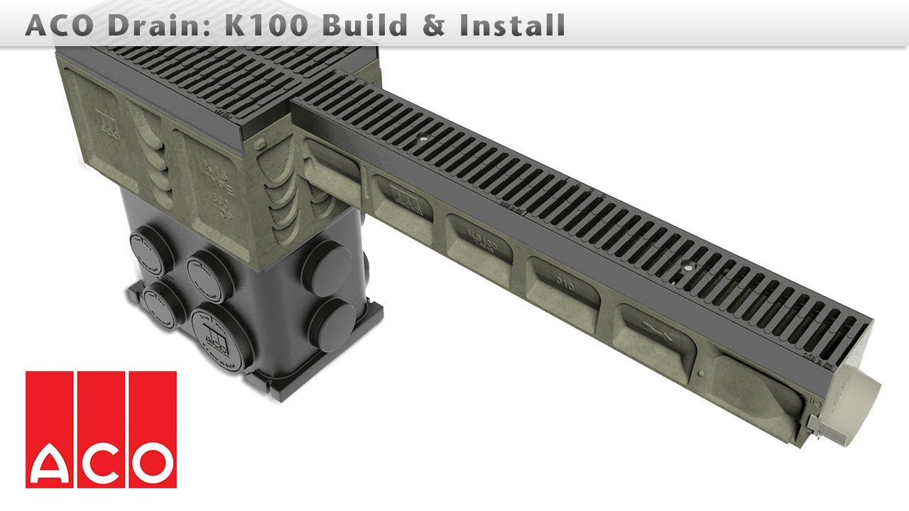 aco drain k100 installation instructions