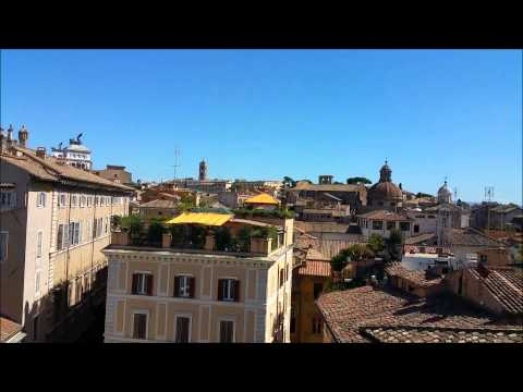 Rome Capitoline Hill Campidoglio Palatine Ghetto old roofs seen from Turtles Nest terraced apartment