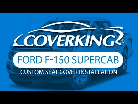 How to Install 2018-2019 Ford F-150 SuperCab Custom Seat Covers   COVERKING®