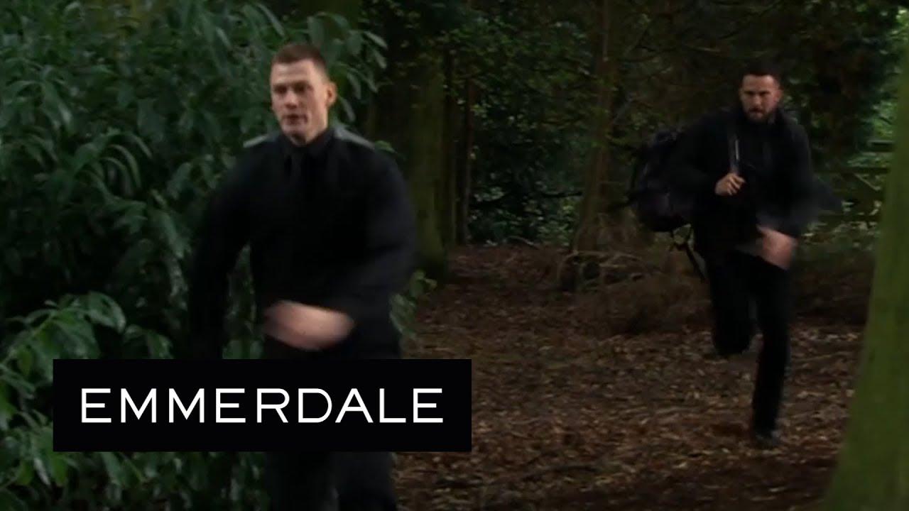 Emmerdale - Ross Chases Down Simon