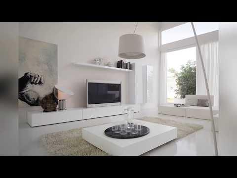 Белая глянцевая мебель для гостиной: ТОП-35 идей для интерьера