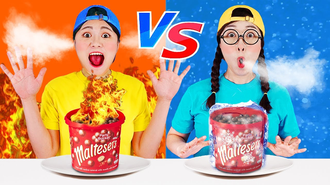 Hot vs Cold Challenge / Girl on Fire vs Icy Girl by DONA