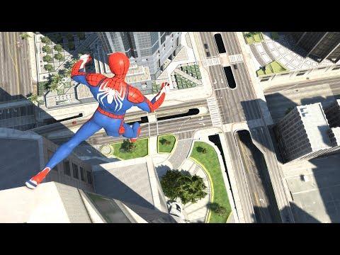 GTA 5 SPIDERMAN Ragdolls Jumps/Falls Compilation (Euphoria Physics   Funny Moments)