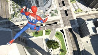 GTA 5 SPIDERMAN Ragdolls Jumps/Falls Compilation (Euphoria Physics | Funny Moments)