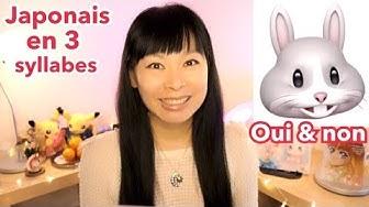 LE JAPONAIS en 3 syllabes #1 | Comment dire Oui, Non, De rien | Mini-cours facile #24