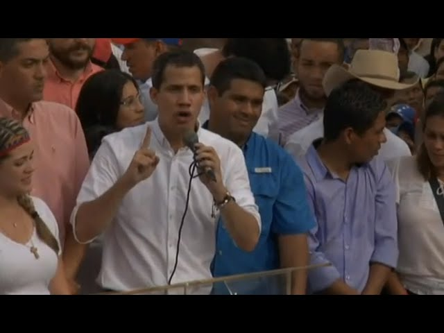 Venezuelan Opposition Leader Juan Guaido Attends Rally in Barquisimeto