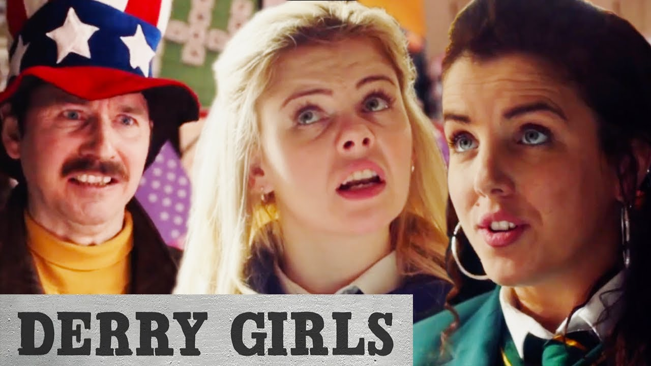 Dennis Tries to Scam The Gang With Dodgy Flags | Derry Girls