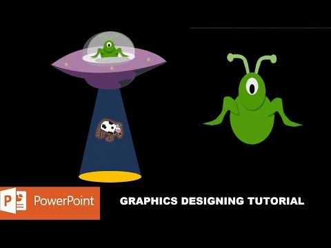 UFO and Alien Character Graphics Design in PowerPoint 2016 Tutorial