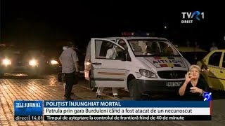 Un polițist a fost ucis în gara Burdujeni din Suceava