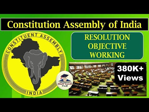 Indian Polity-L-4- Working and Objectives Resolution of the Constitution Assembly By VeeR