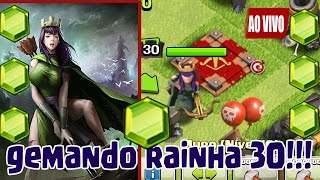 GEMANDO RAINHA ARQUEIRA NIVEL 30 NO CV9 (FULL) - CLASH OF CLANS