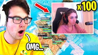 I Got 100 GIRLS to Scrim for $100 in Fortnite... (he pretended to be a GIRL!)