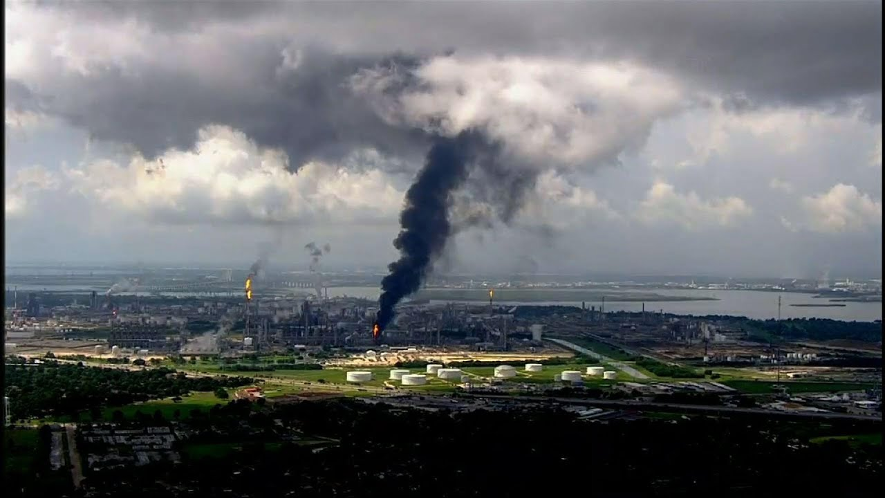 Large fire burning at ExxonMobil refinery in Texas