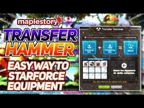 MapleStory: EASY Way To Get 20+ Star Equipment! (Transfer Hammer)
