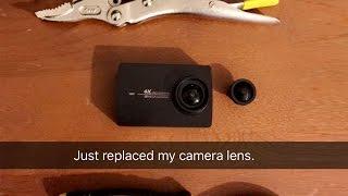 Xiaomi Yi 4k lens replacement repair - Simple and easy