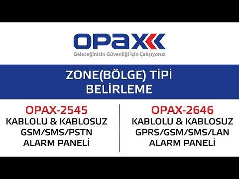 OPAX-2545 ve OPAX-2646 Bölge(Zone) Tipi Belirleme