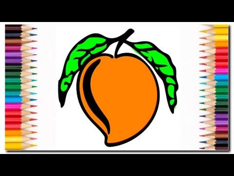 Mudah Looh Mewarnai Buah Mangga Pasti Kamu Bisa Belajar Mewarnai Coloring Book Mango