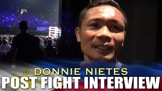 NIETES POST FIGHT INTERVIEW AFTER SPLIT DRAW WITH PALICTE