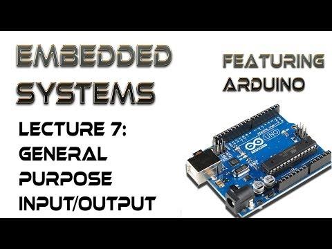 7.  Arduino General Purpose Input/Output Pins