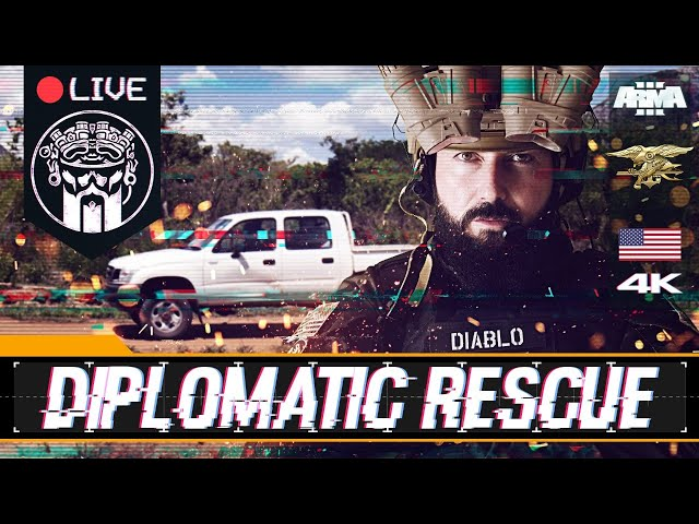 OPERACIÓN DIPLOMATIC RESCUE - ARMA3 4K -  US NAVY SEAL TEAM - SQUAD ALPHA - DIABLO - Español