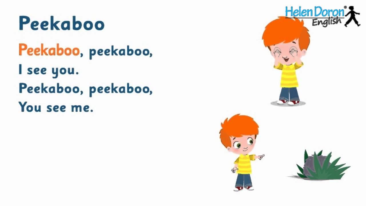 peekaboo songs for kids - Natrliche Hickory Holzbden