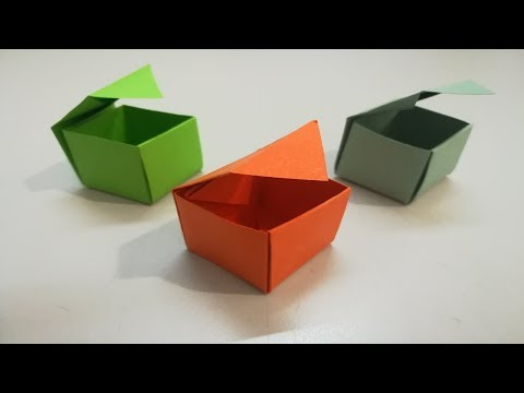 Diy paper Box | paper gift box with lid | Origami Box | paper Box making