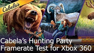 Cabela's Big Game Hunter Hunting Party - Framerate Test for Xbox 360