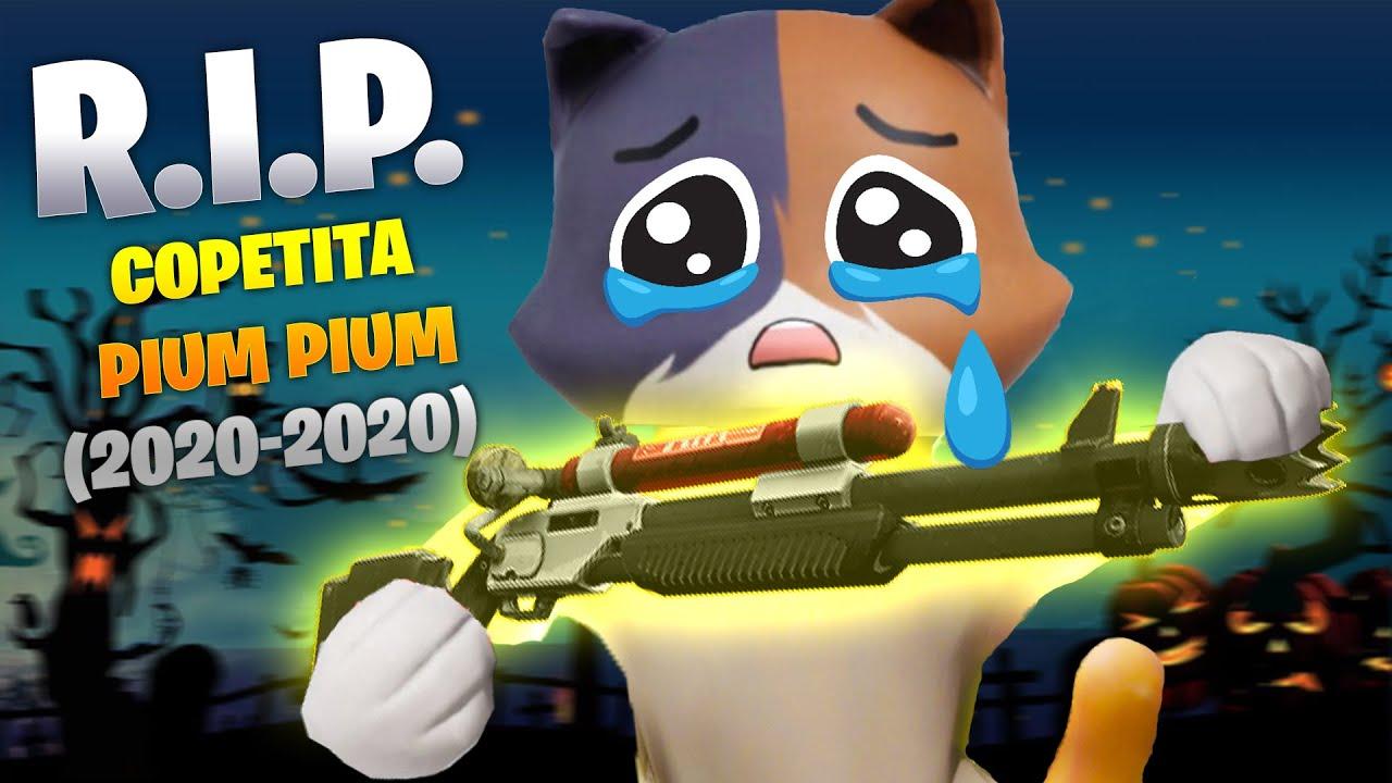 RIP COPETITA PIUM PIUM 😔💔 Gatito reacciona a la Actualización de Halloween de Fortnite... 😿
