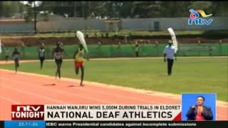 Hannah Wanjiru qualifies for the World Deaf Olympics championships in dramatic fashion