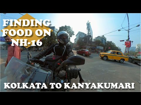 FINDING FOOD ON NH16 🤤 KOLKATA TO BHUBANESWAR 🏍️ KOLKATA TO KANYAKUMARI SOLO RIDE 2021 - EP 1