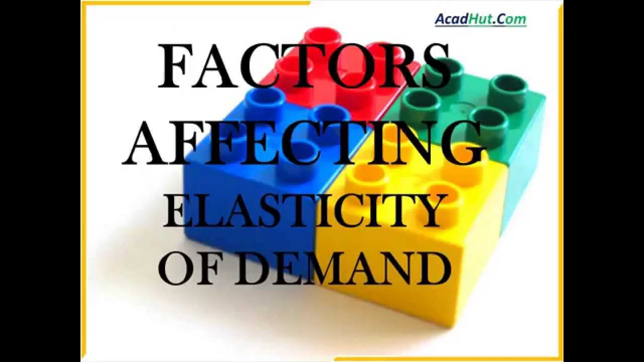 Factors Affecting Elasticity Of Demand 12th Economics Youtube