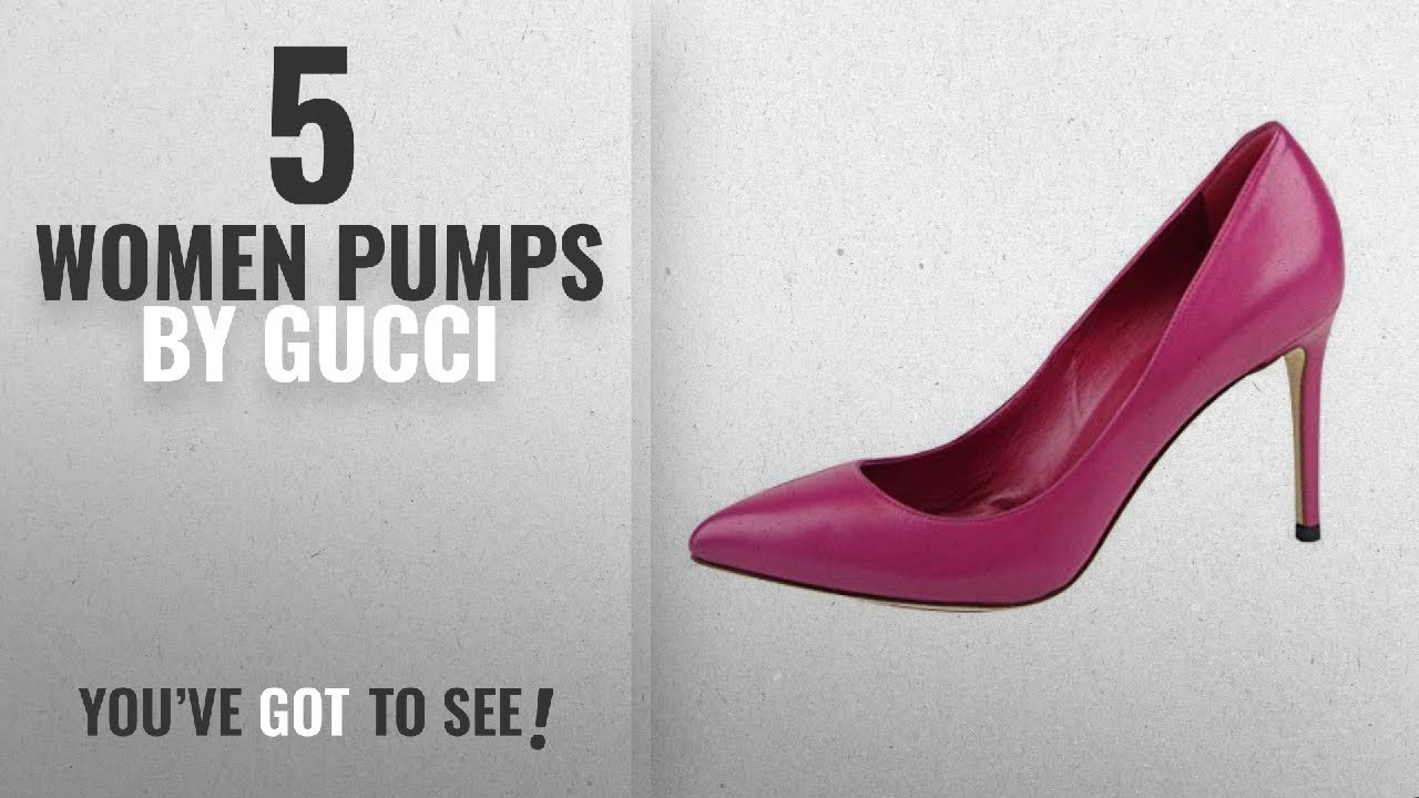 db3a1d51a Top 5 Gucci Women Pumps [2018]: Gucci Magenta Leather Pointed Toe Heel Pump  338723 (8 US / 38 IT)