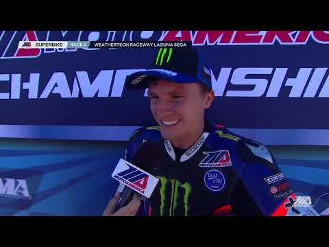 Garrett Gerloff Interview EBC Brakes Superbike Race 2 at WeatherTech Raceway