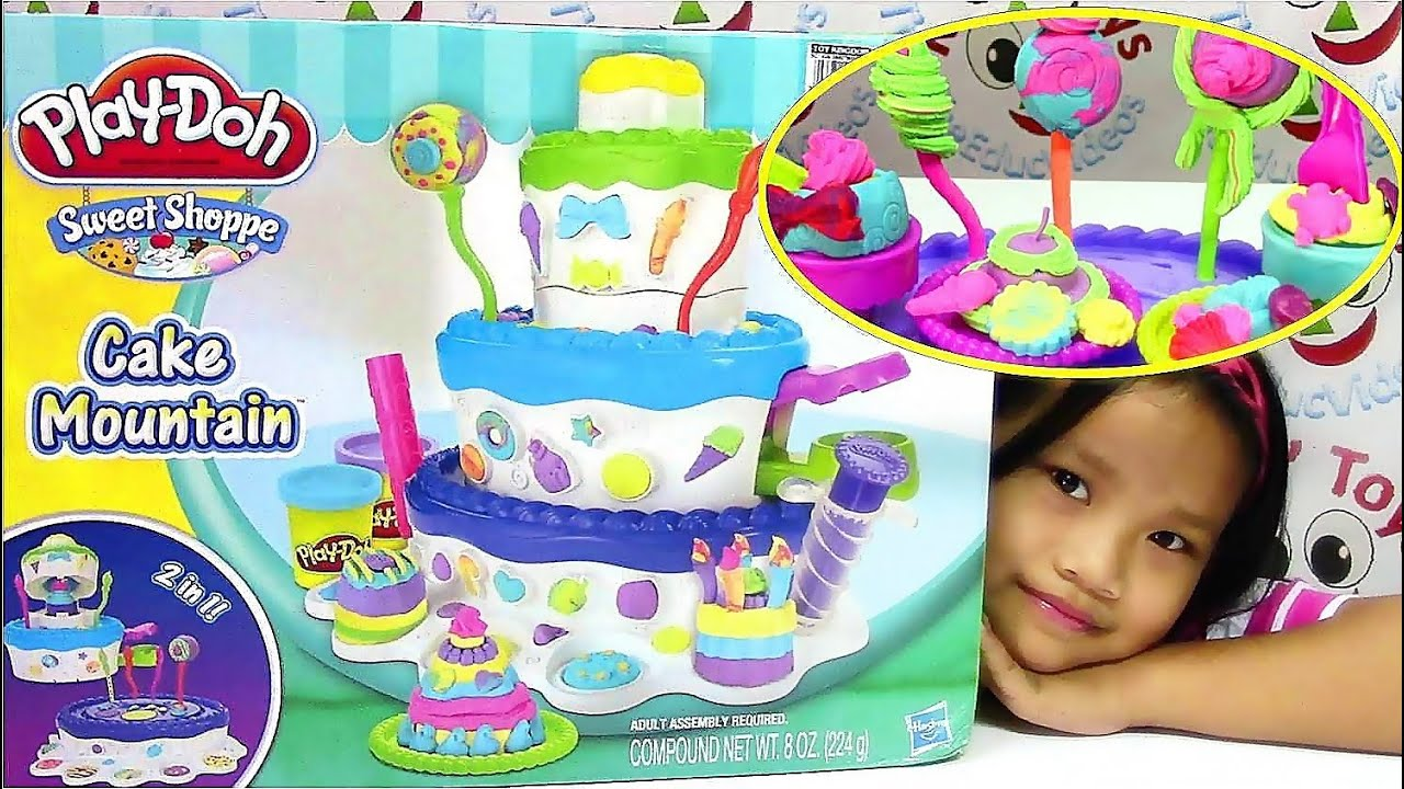 Play Doh Sweet Shoppe Cake Mountain Playset Play Doh