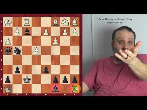 """Joseph Blackburne -- """"Great Players of the Past"""" series, with GM Ben Finegold"""