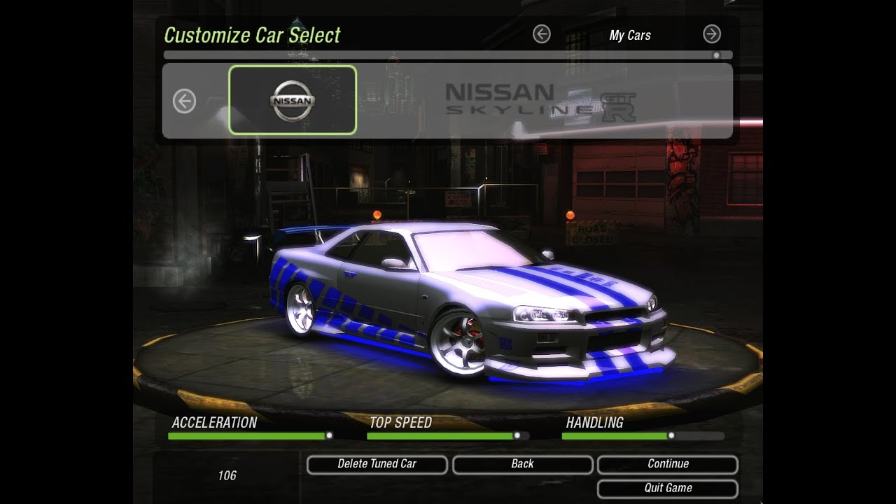 Nissan Skyline Fast And Furious 2 >> HOW to make Brian's Skyline | COMO fazer o Skyline do Brian | Need for Speed: Underground 2 ...