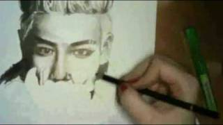 TOP (Big Bang) - speed drawing