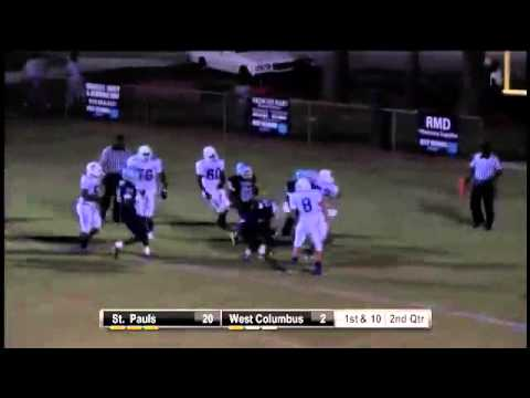 ST. Pauls TD By #22 RB Shawn Williams
