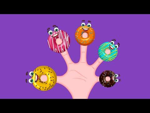 The Finger Family Donuts Family Nursery Rhyme | Donuts Finger Family Songs