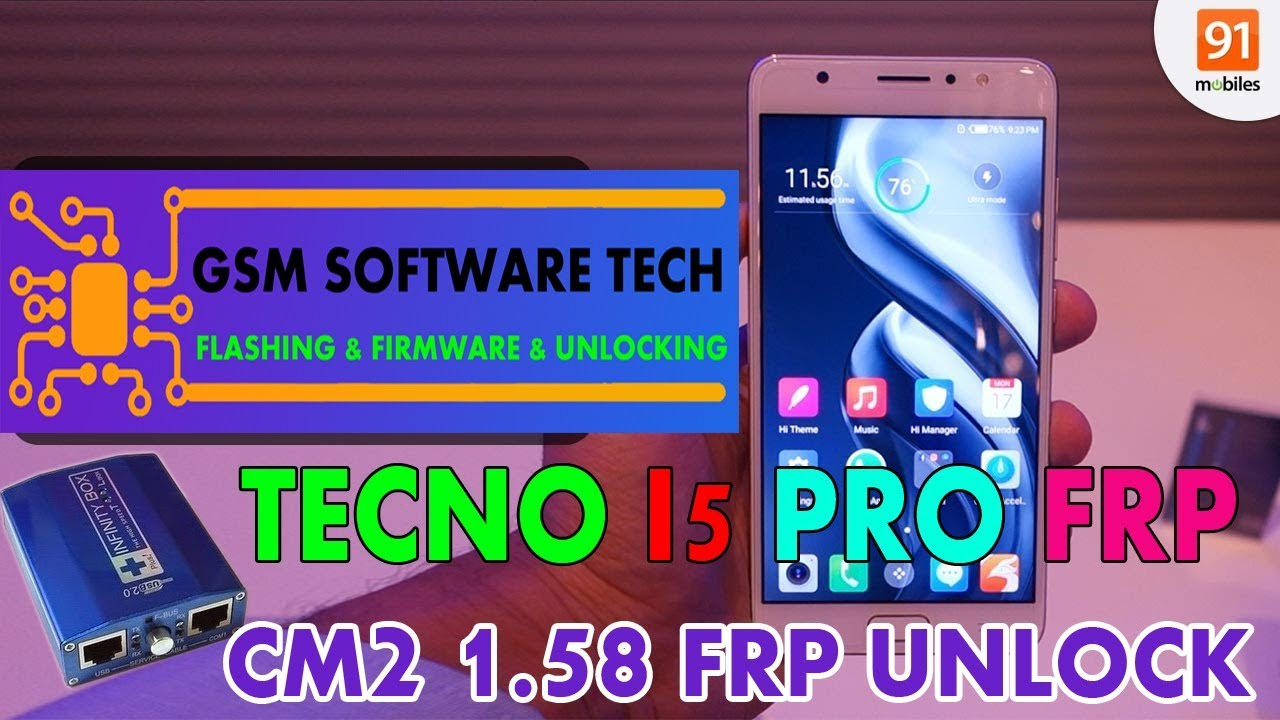 TECNO I5 PRO FRP UNLOCK CM2 MTK