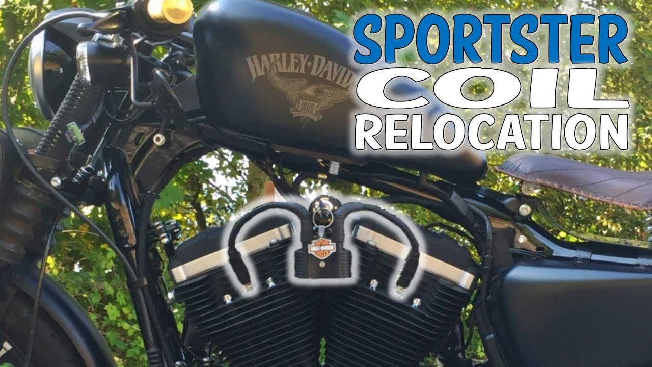 Coil Key Relocation Sportster Nightster 48 Iron Harley Plug