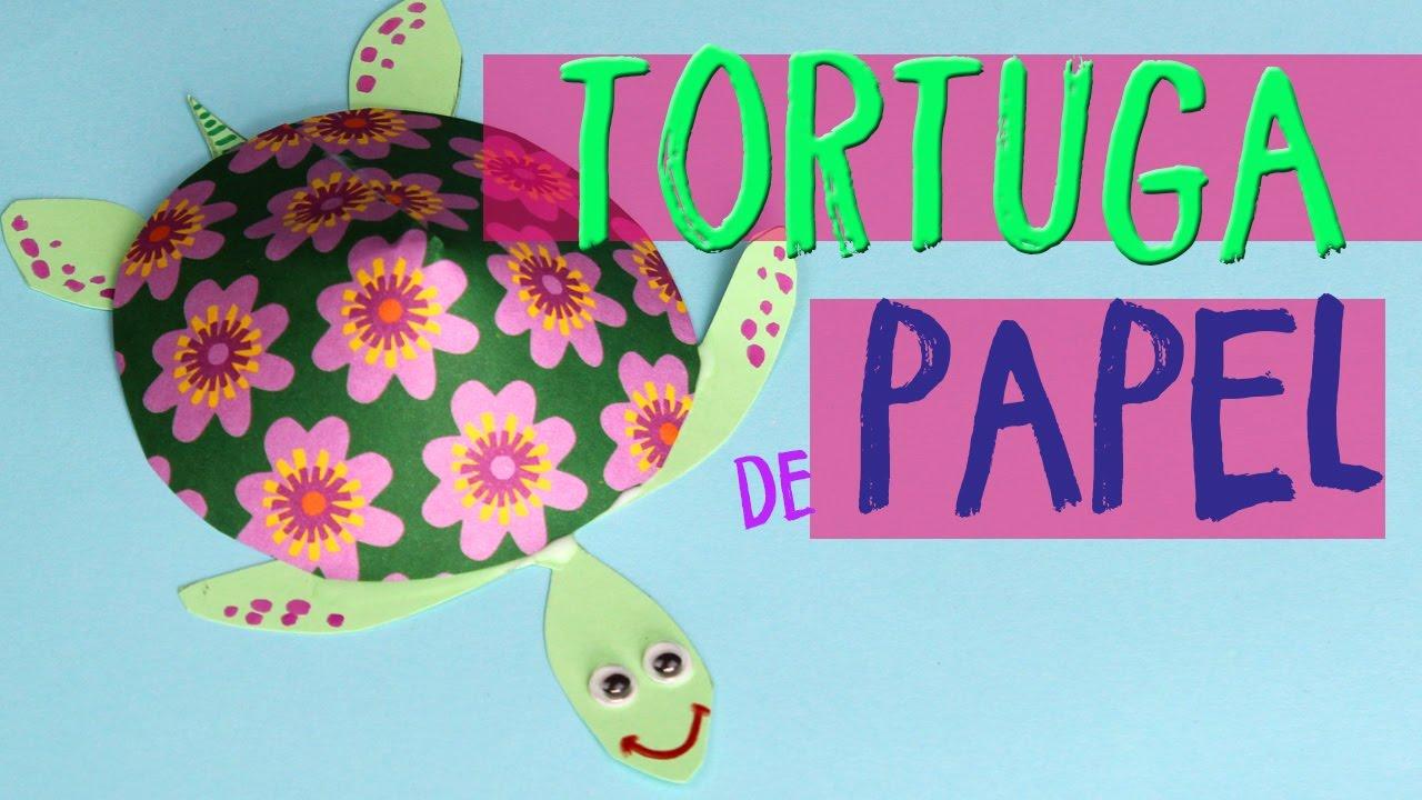Como Hacer Una Tortuga De Papel Manualidades De Tortugas De Papel