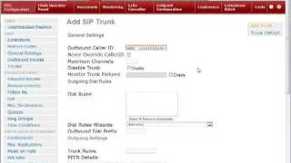 How to setup a basic outgoing  trunk in Elastix.